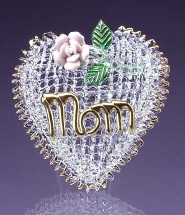 32460 Glass Mom Heart and Flower