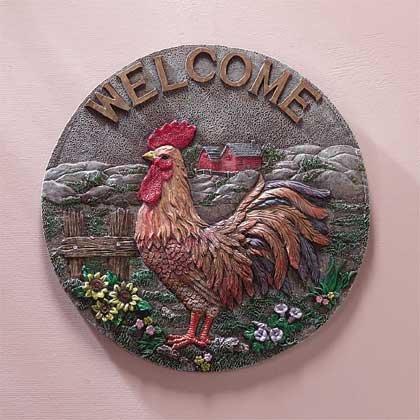 33233 Rooster Garden Plaque