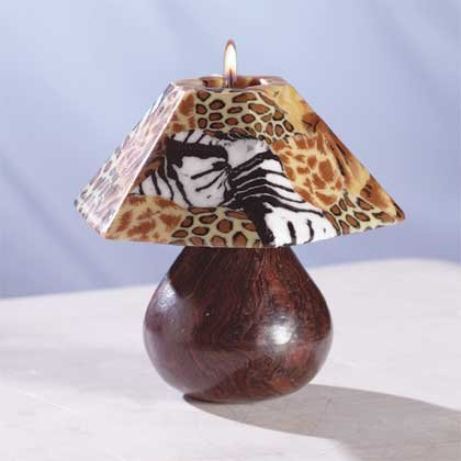 33725 Safari Lamp Shade Candle