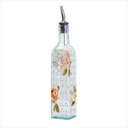 35824 CRACKED LINEN GLASS OIL BOTTLE