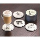 35806 4 PC. FRENCH ASST. COASTERS