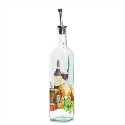 35799 WINE & CHEESE GLASS OIL BOTTLE
