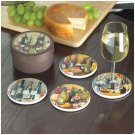 35796 4 PC. IN VINO VERITAS COASTERS