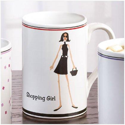 35773 SHOPPING GIRL 12 OZ. MUG