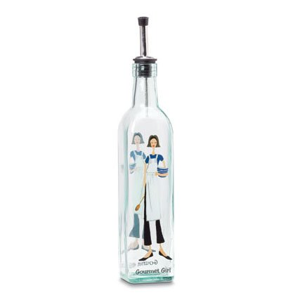 35771 GOURMET GIRL GLASS OIL BOTTLE