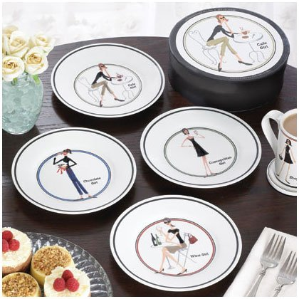 35770 4 PC. THE GIRLS DESSERT PLATES