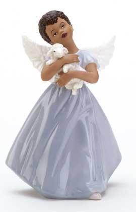33925 Porcelain Angel Holding Lamb