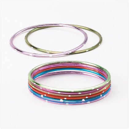 36909 PK 8 Color Metal Bangles