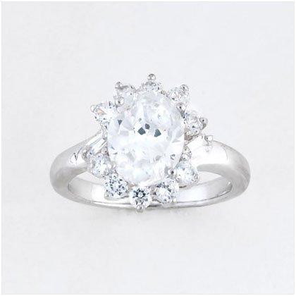 36897S07 Cubic Zirconia Princess Ring