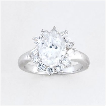 36897S08 Cubic Zirconia Princess Ring