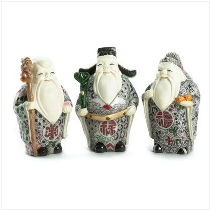 36348 Enlightened Chinese Elder Figurines