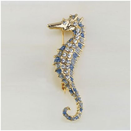 36902 Gold Plated Seahorse Pin
