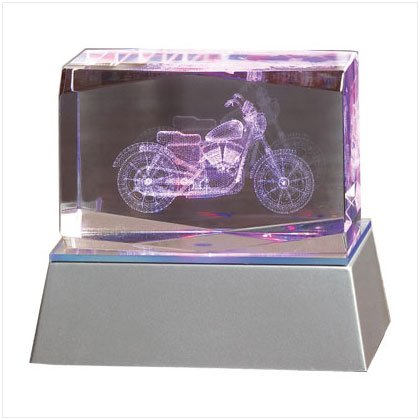 36368 Lighted Motorcycle Cube