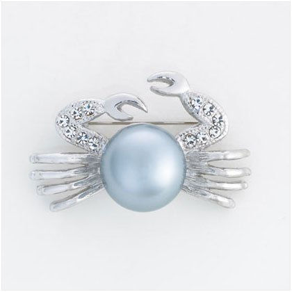36904 Silver Plated Crab Pin