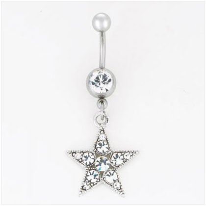 36912 Star Dangle Belly Jewelry