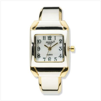 36580 Two-Tone Cuff Bracelet Watch