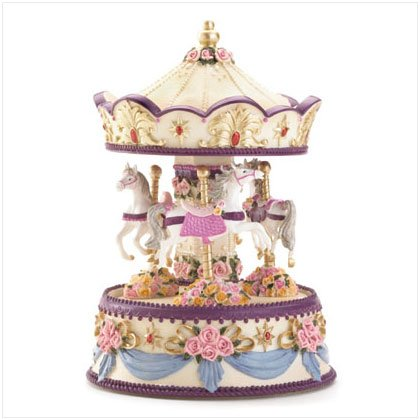 36185 Floral Musical Merry-Go-Round