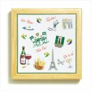 36554 French Cafe Framed Trivet