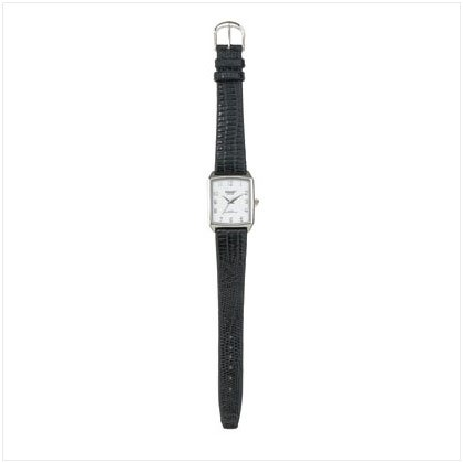 36794 Embossed Leather Band Watch