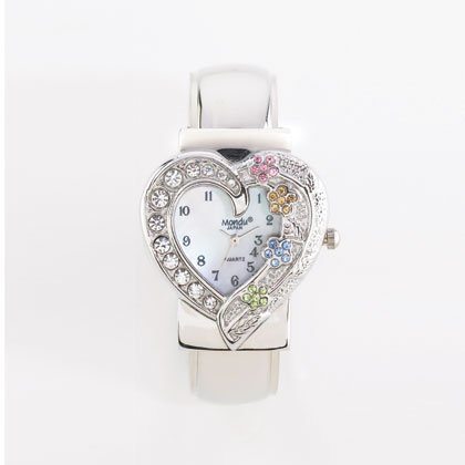 36797 Sparkling Heart Cuff Watch