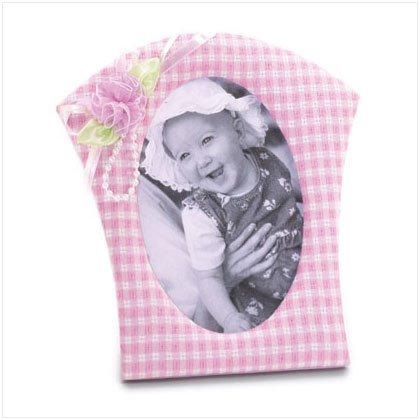 36616 Pink Gingham Fabric Photo Frame