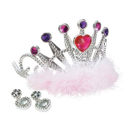 36618 Princess Tiara with Earrings Set