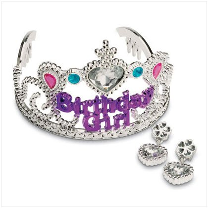 36619 Birthday Tiara with Earrings Set