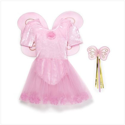 36620 Pink Fairy Dress With Wand Set