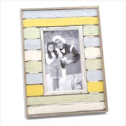 36665 Distress Stripes Photo Frame