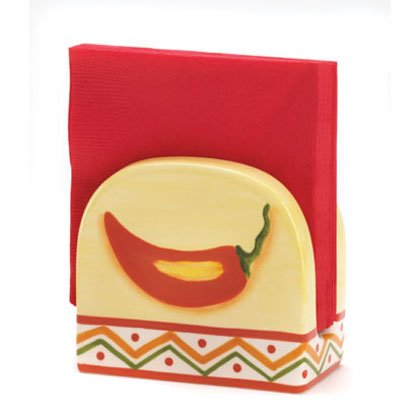 36672 Chili Pepper Napkin Holder