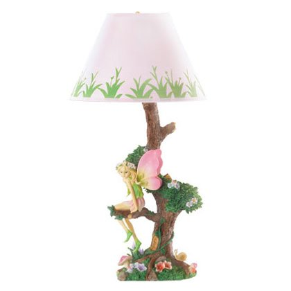 36718 Fairy Sitting On Tree Lamp