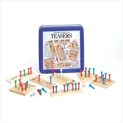 36724 Wood Brain Teasers Game In Tin