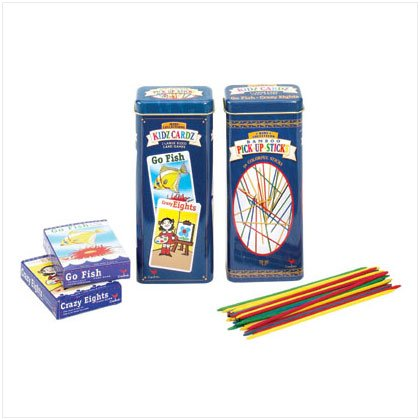 36725 Pick Up Sticks and Card Games Tin