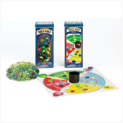 36726 Marbles & Tiddly Winks In Tin