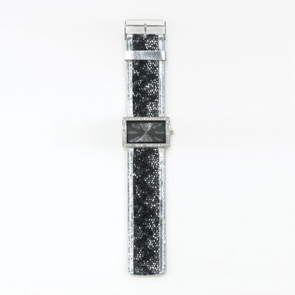 36800 Black Jeweled Lady's Watch