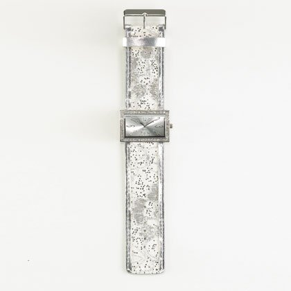 36801 White Jeweled Lady's Watch