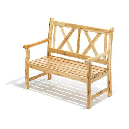 36699 Pine Wood Outdoor Bench