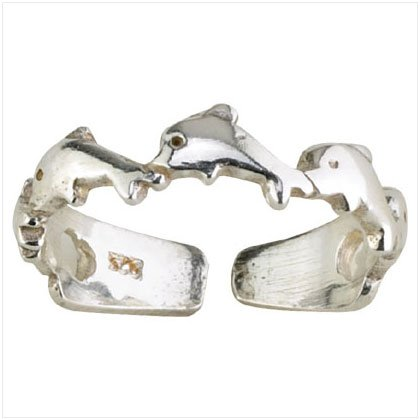 36919 Silver Dolphins Band Toe Ring