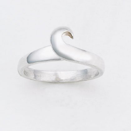 36914 Sterling Silver Scroll Toe Ring