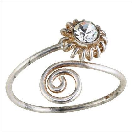 36916 Silver Sun Toe Ring