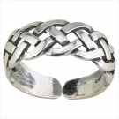 36917 Silver Celtic Braid Toe Ring