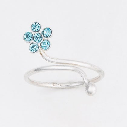 36920 Silver Flower Toe Ring
