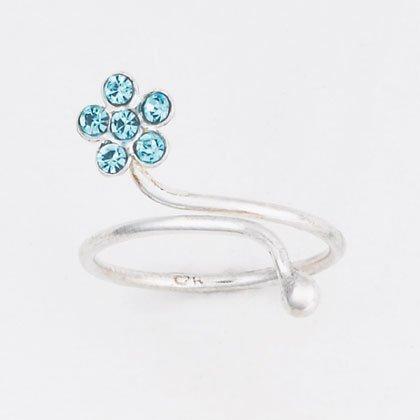 36920 Silver Flower Toe Ring