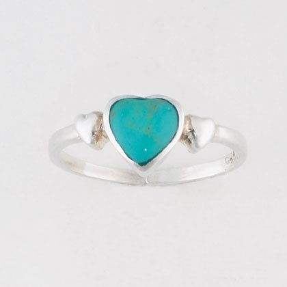 36921 Turquoise Heart Toe Ring