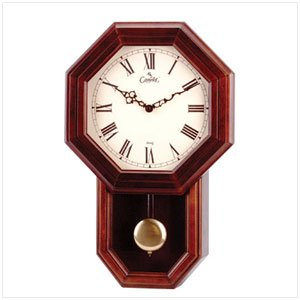 35841   WOOD WALL CLOCK WITH PENDULUM