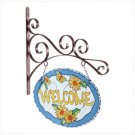 35125 Glass Floral-themed Welcome Sign