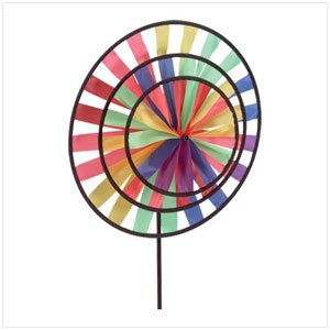33333 Multicolor Triple Pinwheel Wind Wheel