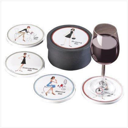 35769 4 PC. THE GIRLS COASTERS SET