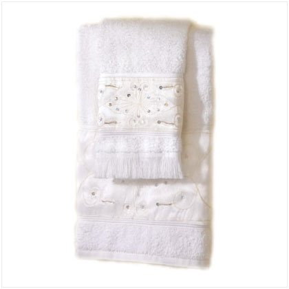 36852 2 Pc Sequins Towel Set