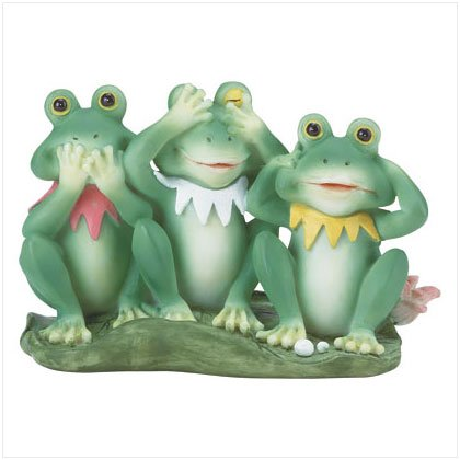 31759 Speak, See, Hear No Evil Frogs